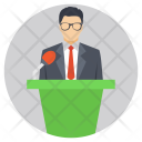 Public Speaker Political Icon