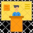 Speech Podium Present Icon