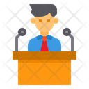 Speech Podium Present Icon