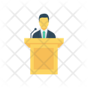 Presentation Speech Dice Icon