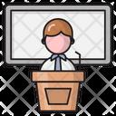 Presentation Speech Board Icon