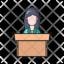 Presentation Desk Podium Icon