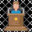 Podium Speech Speaker Icon