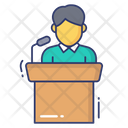 Speech Man Presentation Icon