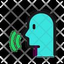 Speech Voice Activation Icon