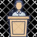 Speech Speaker Announcement Icon