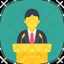 Lecture Talk Speech Icon