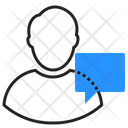 Button Speech Bubble Chat Icon