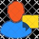 Button Speech Bubble User Icon