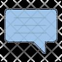 Speech Bubble Message Conversation Icon
