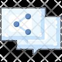 Speech Bubble Share Network Icon