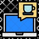 Laptop Computer Speech Chat Bubble Icon