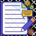 Speech Writing Writing Paper Writing File Icon