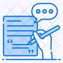 Speech Writing Audio Transcription Communication Speech Icon