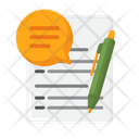 Speech Writing Translation Writing Report Writing Icon