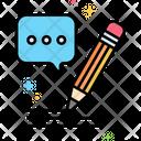 Speech Writing Icon