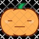 Speechless Doubt Pumpkin Icon