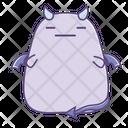 Speechless Emotionless Sticker Icon