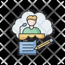 Speech Write Message Icon