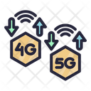 Speed 5 G Signal Icon