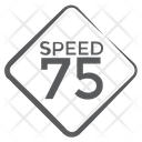 Speed 75 Speed Limit Road Sign Icon