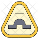 Speed Breaker Sign Icon
