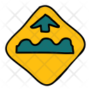 Speed Bumps Traffic Icon