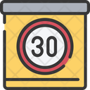 Speed Limit Sign Policing Icon