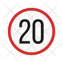 Speed Limit Sign Icon