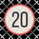 Speed limit Icon