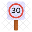 Speed Signage Board Road Post Traffic Board Icon