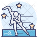 Speed skating Icon
