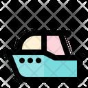 Speedboat Summer Beach Icon