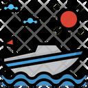 Speedboat Sea Sailing Icon