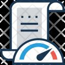 Speedometer Sheet File Icon
