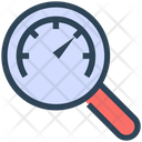 Seo Magnify Glass Speedometer Icon