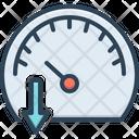 Speedometer Slow Gauge Icon