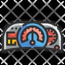 Speedometer Velocity Measuring Icon
