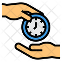 Spend Time Time Management Hands Icon