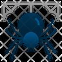Spider Spiderweb Halloween Icon