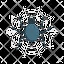 Spider Cobweb Scary Icon