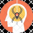 Spider Fobia Mind Icon