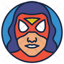 Spider Woman Warrior Cartoon Character Icon
