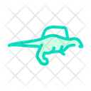 Spinosaurus Dinosaur Color Icon