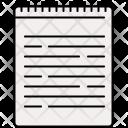 Bound Document Spiral Icon