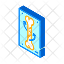 Spiral Fracture Isometric Icon