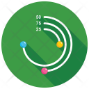 Spiral Line Chart Icon