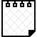 Paper Piece Spiral Paper Paper Icon