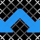 Split Down Arrow Icon