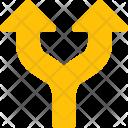Split Up Arrow Icon